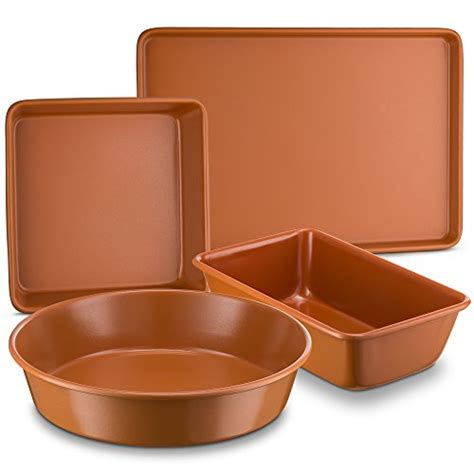 ptfepfoa  red cookware  bakeware  bovado usa ceramic coated copper muffin pan