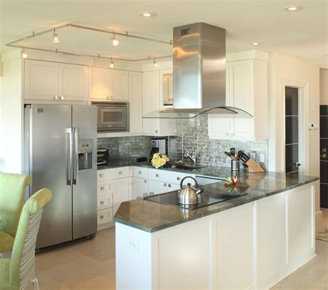 Kitchen Vent Hood Ideas - charleston condo kitchen remodel beach style with track lighting contemporary coffee makers