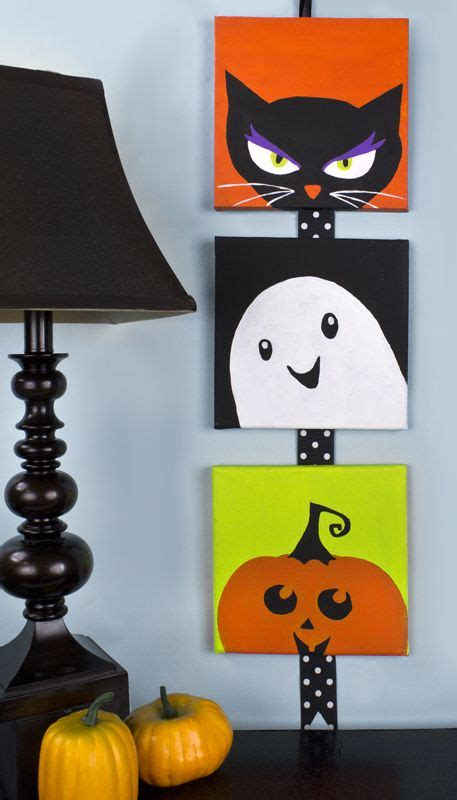 cute  halloween canvases halloween decor