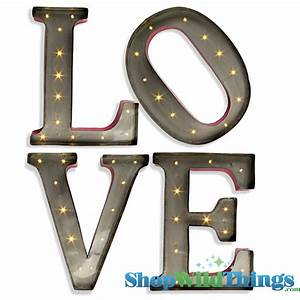 lighted love sign vintage marquee letters lighted sign With love wall art letters