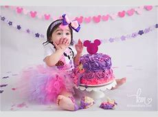 Minnie Mouse Cake Smash Indianapolis Photographer