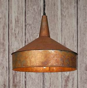 Classic vintage rustic mid th century large copper