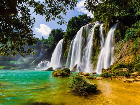 ban gioc waterfall  china  vietnam  wallpapers hd