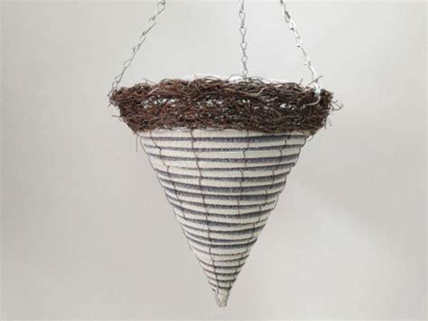 wholesale wall hanging cone shape hanging rattan flower baskets buy handles  plastic bucket