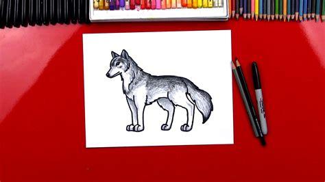 draw  realistic wolf art  kids hub