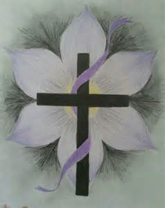 Drawings Crosses with Flowers