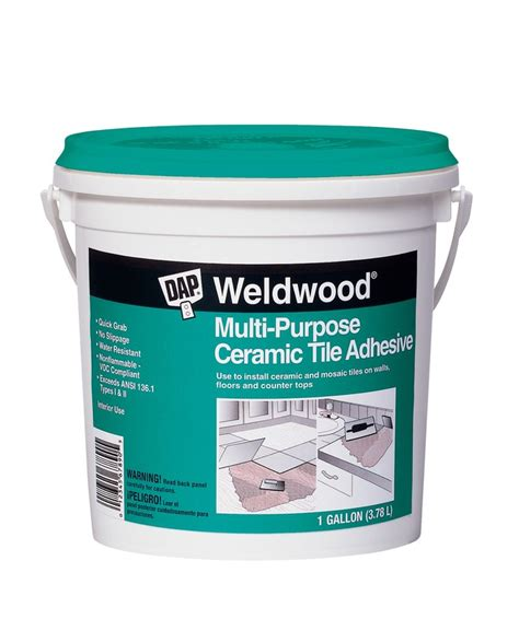 buy the dap 25192 ceramic tile adhesive gallon