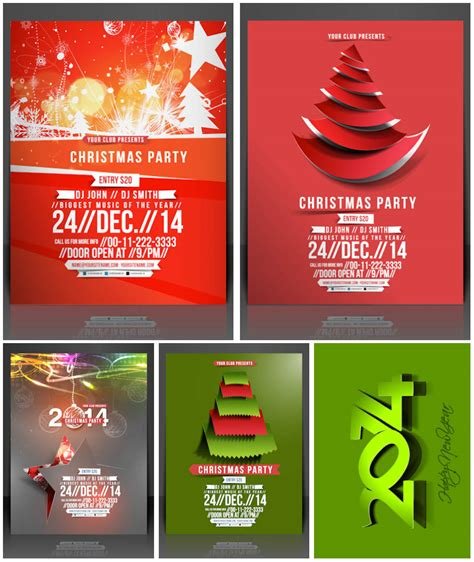 2014 Christmas party invitations vector Vector Graphics Blog
