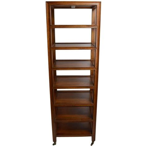 Etagere Wood by Solid Wood Etagere On Brass Wheel Coasters At 1stdibs