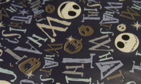 wrapping paper nightmare before christmas 12ft x 3 33ft