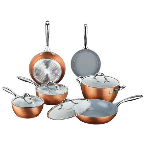 amazoncom  home eco technology  piece cooking set nonstick performance  scratch