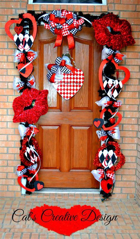 valentines door decorat cats holiday home decor