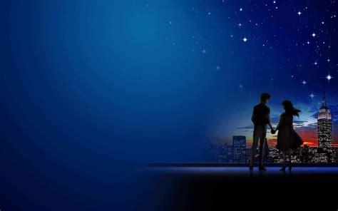 Cute Cartoon Wallpaper Backgrounds 夜色浪漫情侣壁纸 桌面天下 Desktx Com