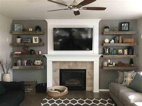 image result  fireplace  shelves   sides