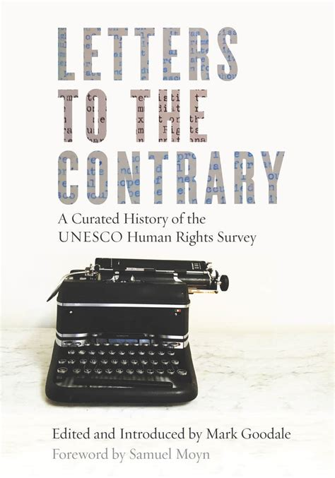 letters to a contrarian letters to the contrary a curated history of the unesco