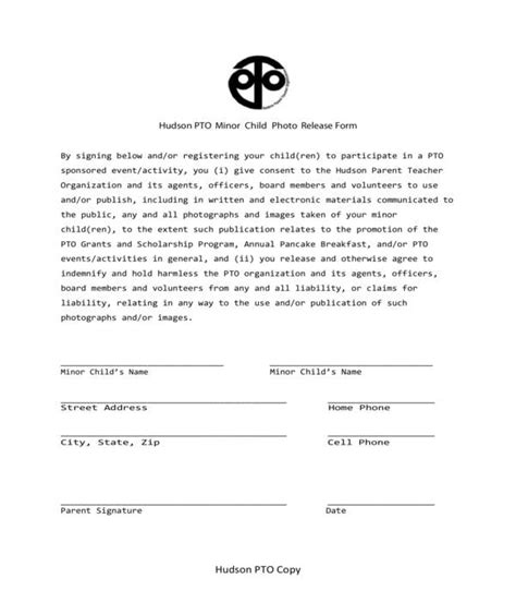 FREE 10+ Minor Photo Release Forms in PDF   MS Word