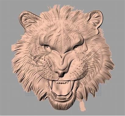 Relief Tiger Stl Cnc 3d Carving Format