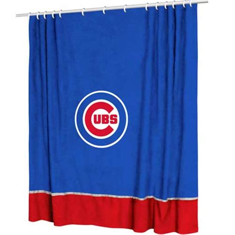 chicago cubs mlb microsuede shower curtain