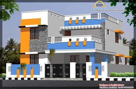 House Elevations Over Kerala Home Design Floor