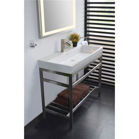Stainless Steel South Beach Vanity Console in Black