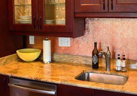kitchen with copper backsplash copper backsplashes from quickshipmetals 6502