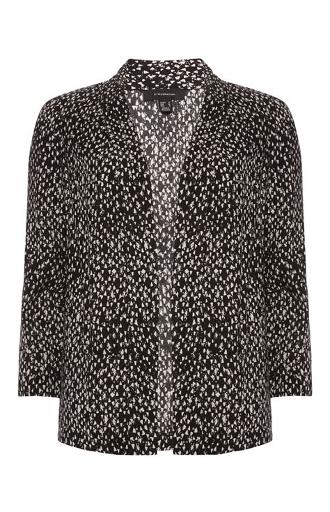 £13.00 Sale Black Graphic Print Viscose Jacket very