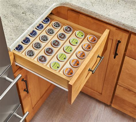 drawer inserts for kitchen cabinets k cup tray insert for 18 quot base cabinet drawers 4cdi 18 8825