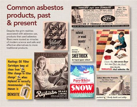 common asbestos products   present