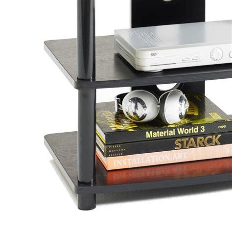 mobile metallo mobile porta tv m2001l fisso in metallo e mdf a 4 ripiani