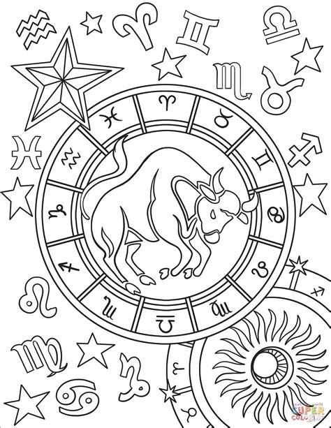 taurus zodiac sign coloring page  printable coloring