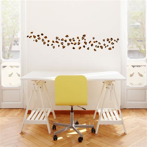 wall applique leopard spots printed wall decal