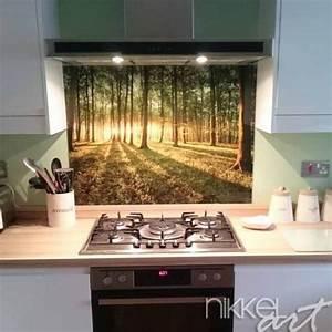 Küchenrückwand Glas Foto : k chenr ckwand foto glas wald ~ Michelbontemps.com Haus und Dekorationen