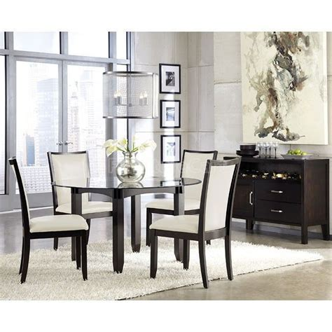 Trishelle Dining Room Set W Cream Chairs  Dining Room