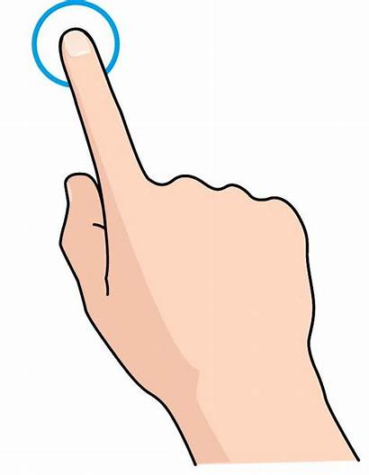 Finger Touch Clipart Pointer Cliparts Cartoon Clip