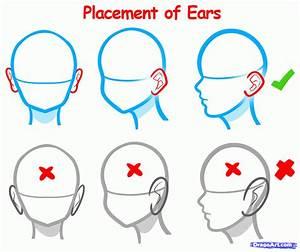 Draw Anime Ears, Draw Manga Ears, Step by Step, Drawing ...