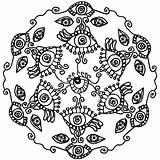 Coloring Mandala Lotus Pages Flower Eye London Pdf Eyes Easter Printable Spy Tribal Eyeball Getcolorings Easy Seeing Getdrawings Button Using sketch template