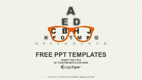 optician vision  eyesight vector powerpoint templates