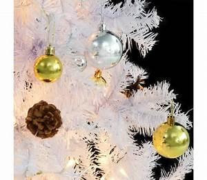 Künstlicher Weihnachtsbaum Geschmückt : vidaxl k nstlicher weihnachtsbaum geschm ckt kugeln leds 210 cm wei g nstig kaufen ~ Yasmunasinghe.com Haus und Dekorationen