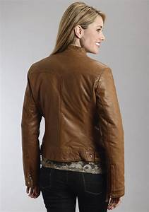 Womens Leather Western Jacket | Brown Lamb Leather Jacket