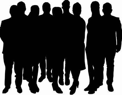 Silhouette Crowd Transparent Clipart Shadow Person Clip