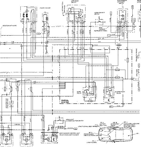 Porsche 944 Wiper Motor Wiring Diagram wiring diagram type 924 s model 87 sheet porsche 944