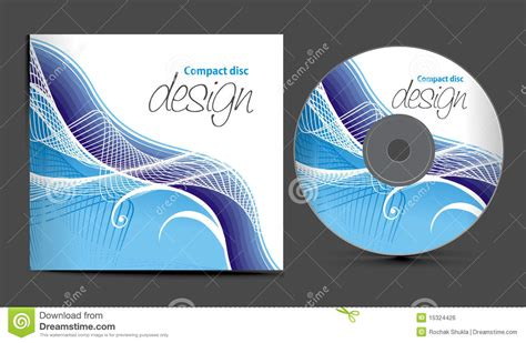 Cd Cover Design Stock Vector. Image Of Curve, Illustration