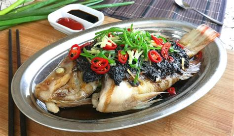 fish  black bean sauce   steam