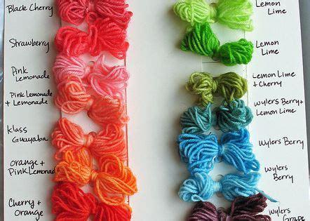 kool aid yarn color chart kool aid dye yarn colors