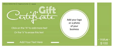 free printable photography gift certificate template gift certificate template with logo