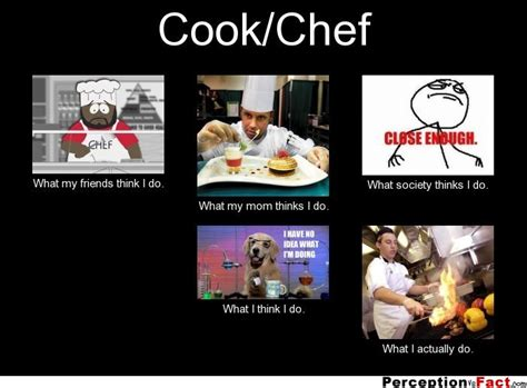 Chef Meme Generator - cook chef what people think i do what i really do perception vs fact