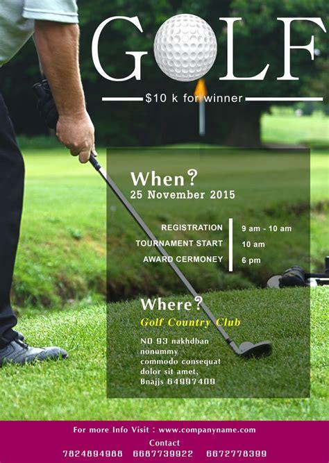 golf tournament flyer template    golf