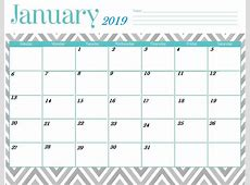 Printable January 2019 Calendar Latest Calendar