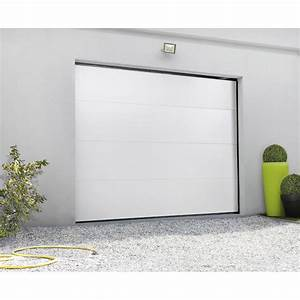 porte de garage sectionnelle motorisee primo h200 x l240 With porte garage basculante leroy merlin