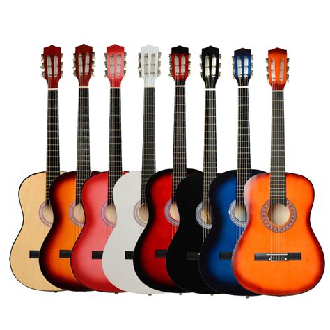 guitar colors new 38 quot 7 color 6 strings plywood classical acoustic folk